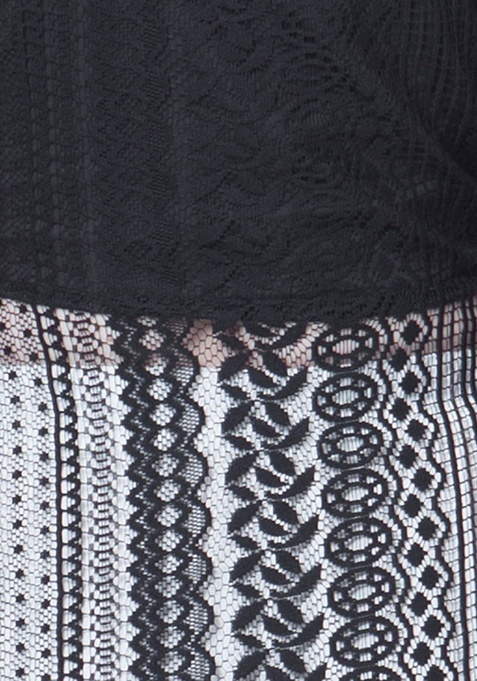Lace Maxi Tunic - Black