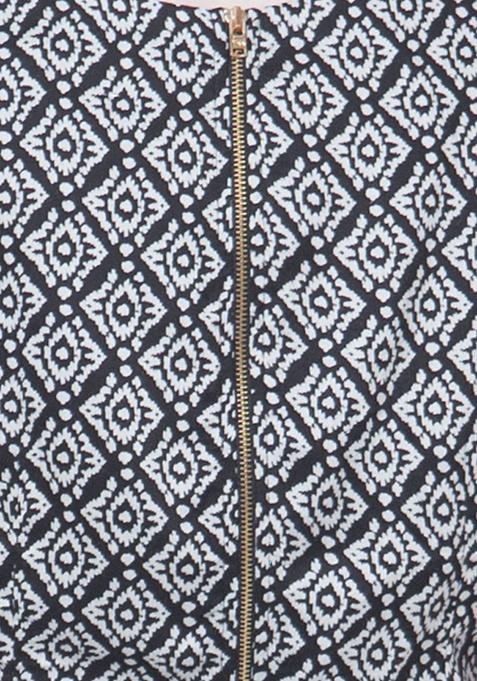 Peplum Flair Top - Aztec