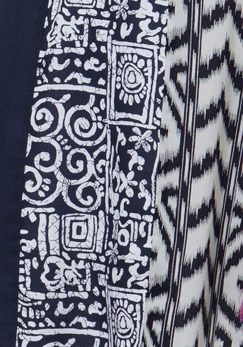 Monochrome Mania Tunic Top - Ikat