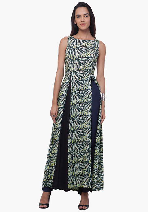 Panelled Maxi Tunic - Abstract