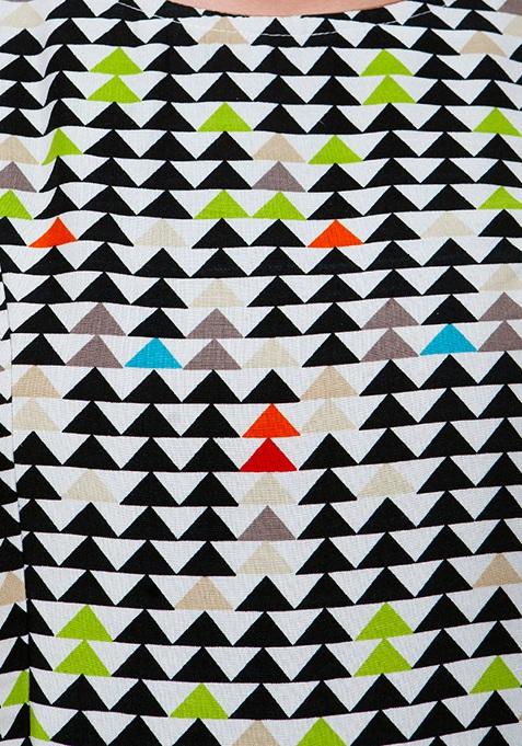 Gathered Maxi Tunic - Geometric