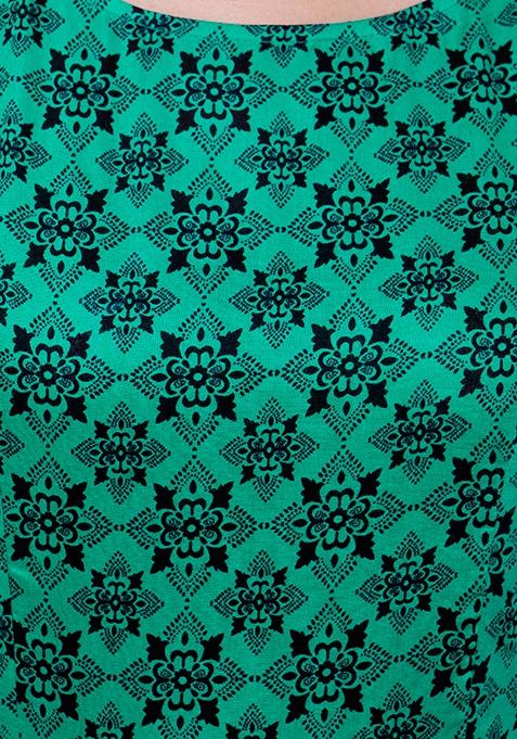 Slit Sass Maxi Tunic - Green