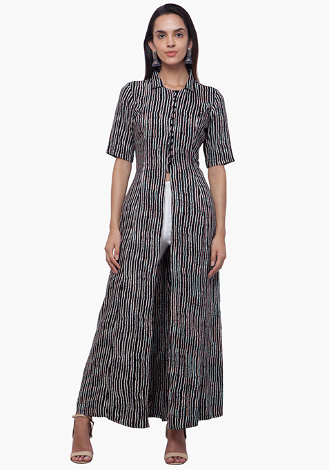True Elegance Maxi Tunic - Striped