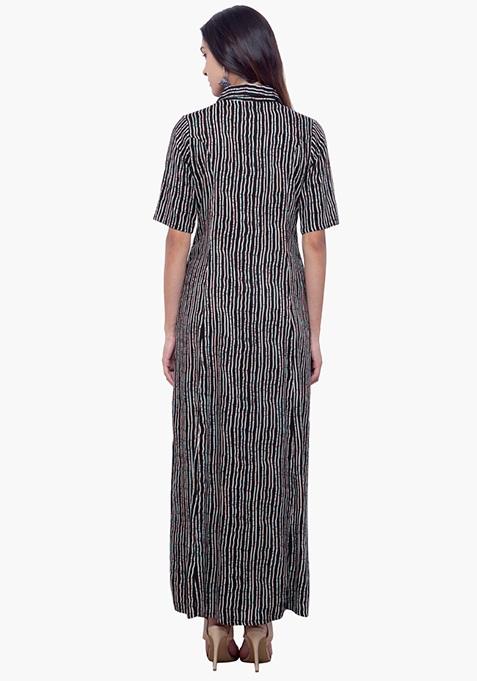 True Elegance Maxi Tunic - Striped