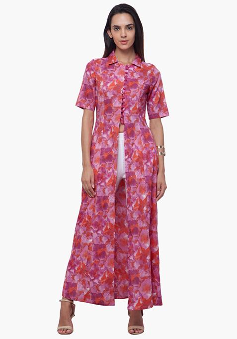 True Elegance Maxi Tunic - Pink Floral