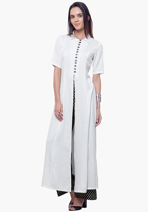 True Elegance Maxi Tunic - White