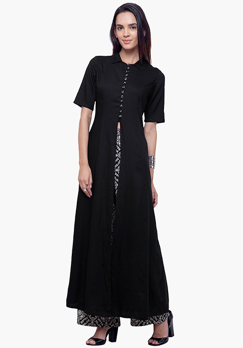 True Elegance Maxi Tunic - Black