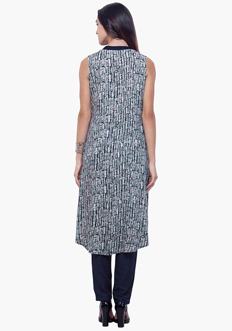 Flare High-Low Tunic - Abstract