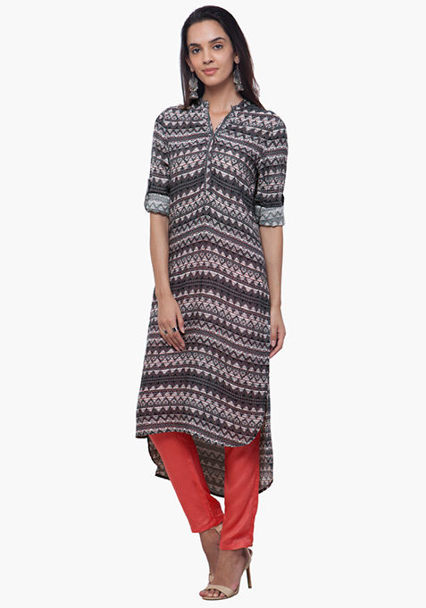 Aztec Ace High-Low Tunic