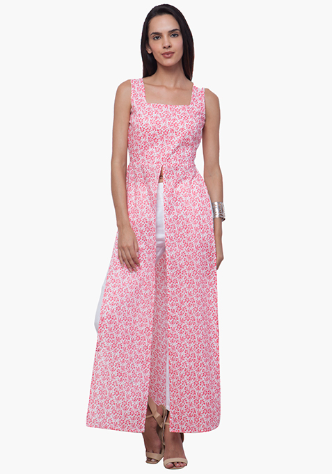 Flyaway Maxi Tunic - Pink Floral