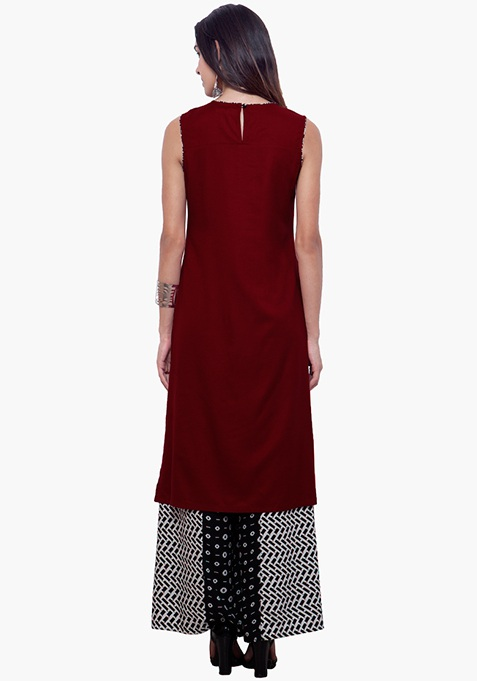 Side Sass Tunic - Oxblood