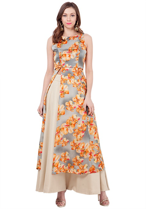 Slit Sass Maxi Tunic - Dream Floral