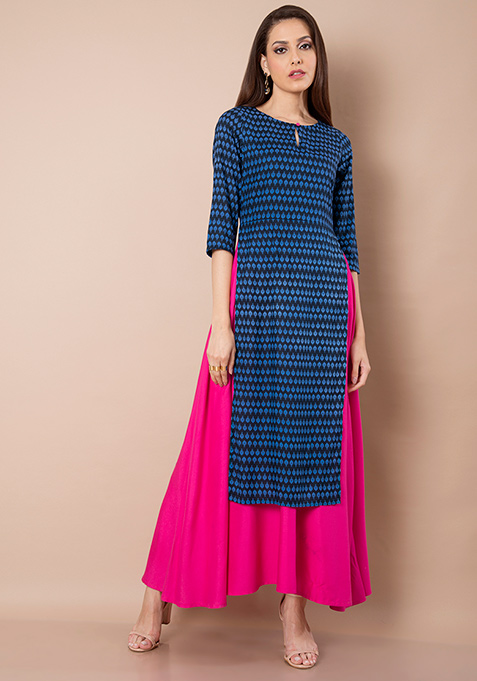 Double Layer Maxi Tunic - Pink