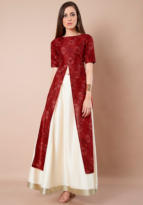 Silk Lush Maxi Tunic - Red Baroque