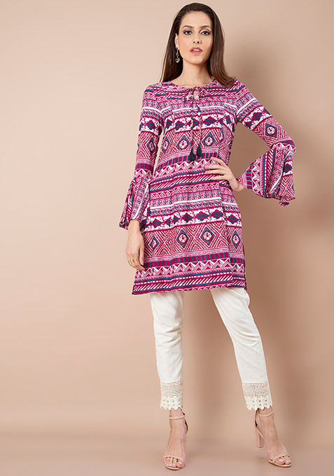 Bell Sleeves Tunic - Pink