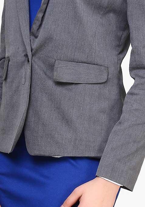 Classic Cool Blazer - Grey