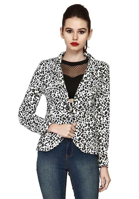 Leopard Lark Blazer