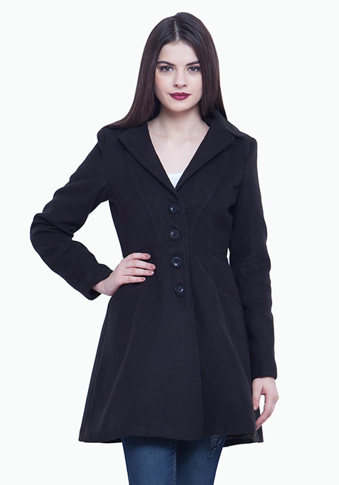Skater Coat - Black