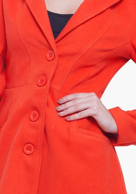 Skater Coat - Orange