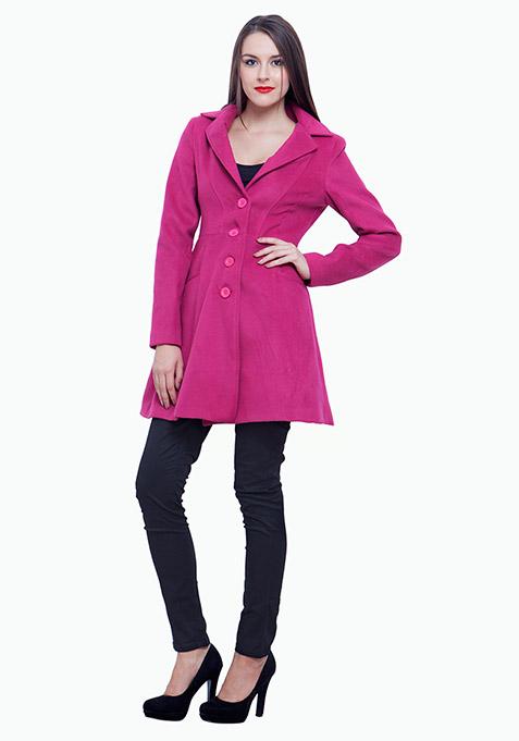 Skater Coat - Pink