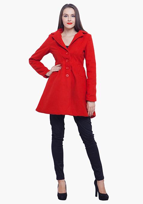 Skater Coat - Red
