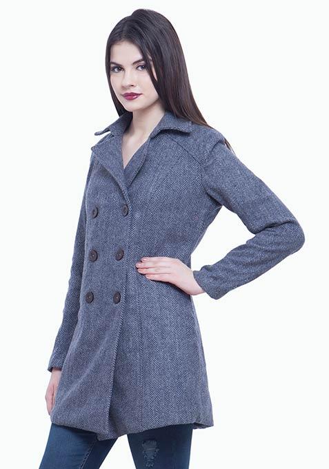 Classic Trench Coat - Grey