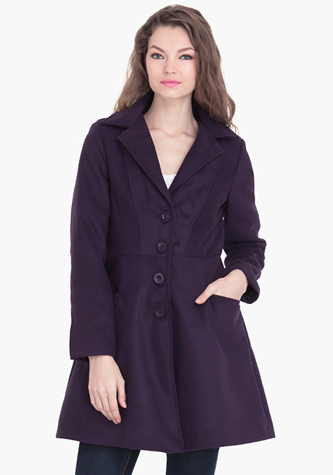 Skater Coat - Purple