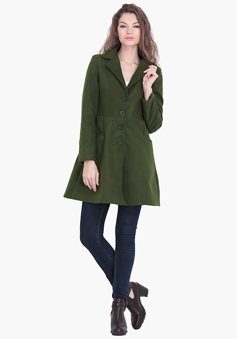 Skater Coat - Olive