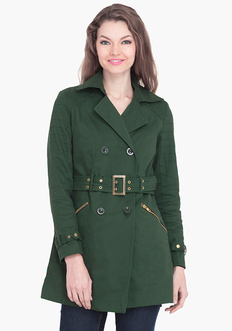 Classic Trench Coat – Green