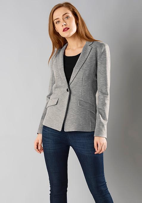 Grey Sleek Classic Blazer