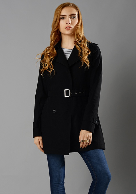 Black Beauty Trench Coat