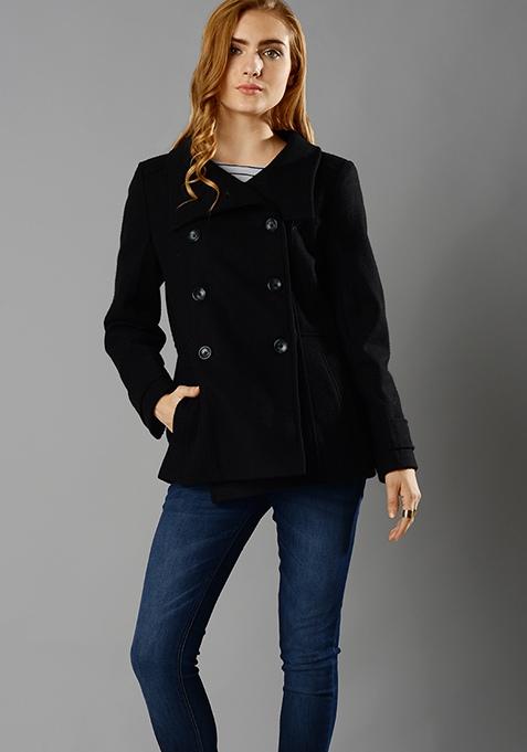 Pea Coat - Black