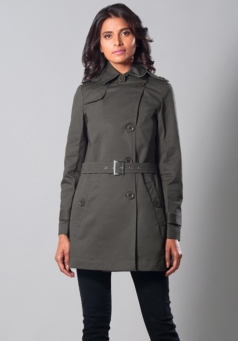 Grey Times Trench Coat