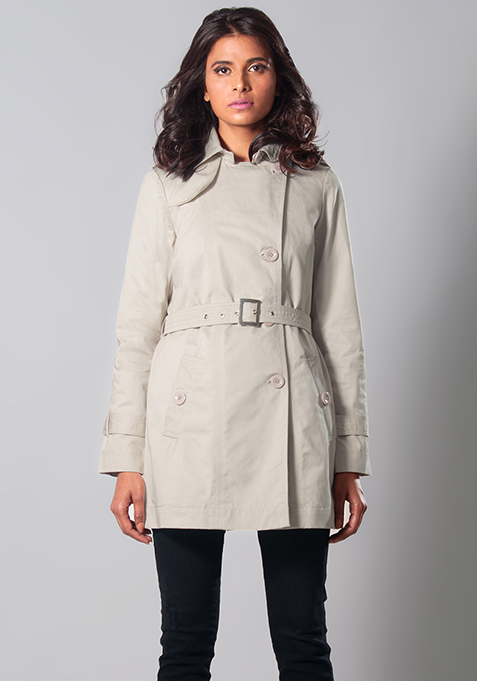 Beige Parade Trench Coat