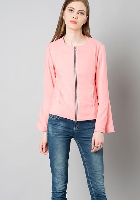 Bell Sleeve Blazer - Pink