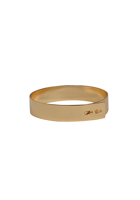 Smooth Gold Ankle Cuff