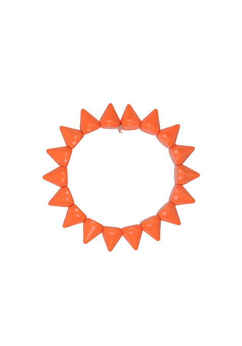 Neon Orange Spiked Bracelet