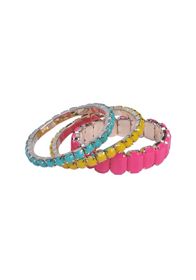 Crystal Bracelets Trio Set