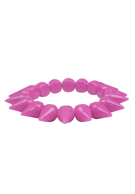 Fuchsia Spiked Bracelet