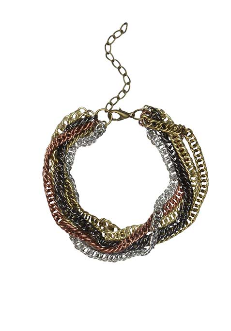 Rustic Clustered Chains Bracelet