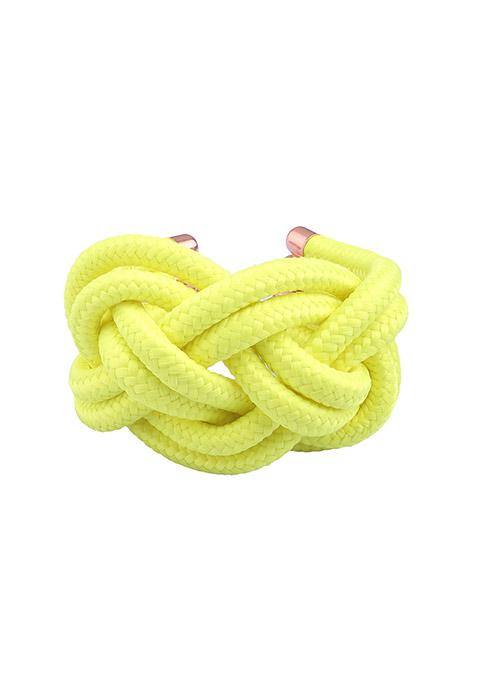 Neon Yellow Cords Bracelet