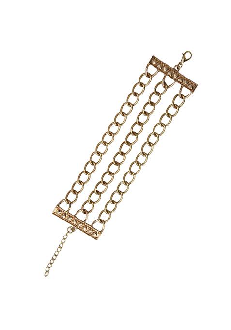 Vintage Edge Gold Bracelet