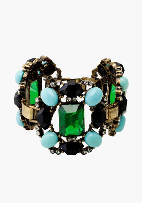 Green Blue Crystal Bracelet