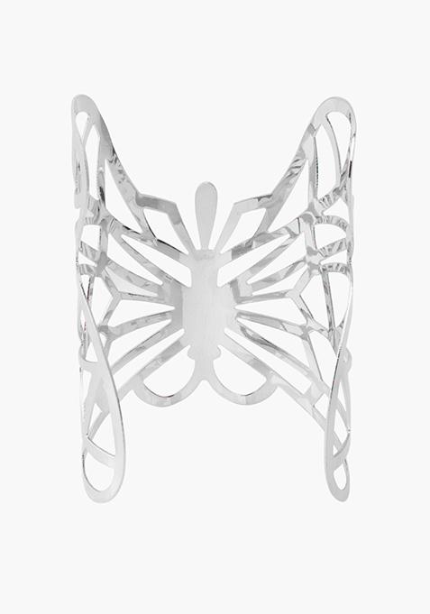 Silver Butterfly Cuff
