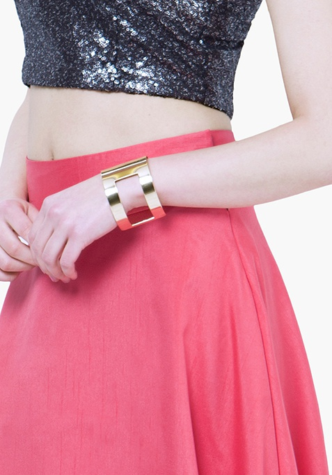 Hollow Out Gold Cuff