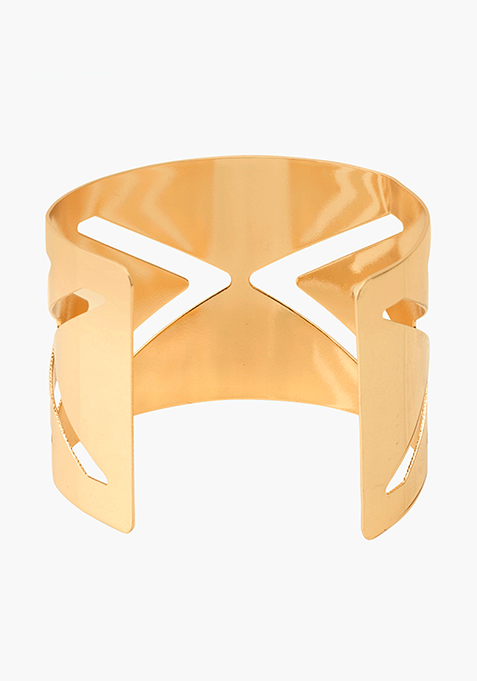 Gold arrow Cut out cuff
