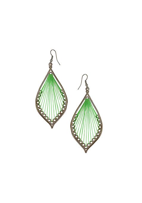 Green Weaves Earrings