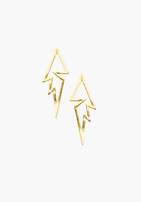 Skybolt Gold Earrings