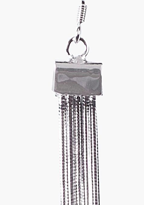 Silver Tasselled Earrings