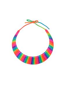 Neon Rainbow Choker Necklace